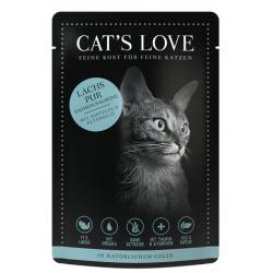 SACHET POUR CHAT ADULTE (SAUMON)  MARCHAL  CAT'S LOVE
