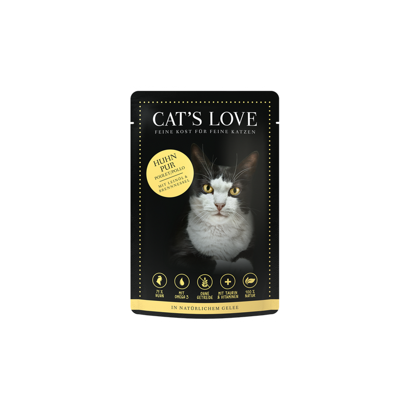 SACHET POUR CHAT ADULTE (POULET)  MARCHAL  CAT'S LOVE